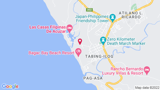 Las Casas Filipinas de Acuzar Map