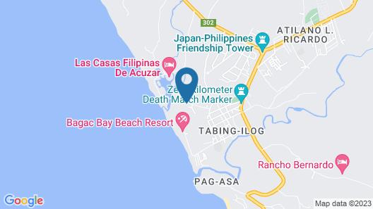 Las Casas Filipinas de Acuzar Map