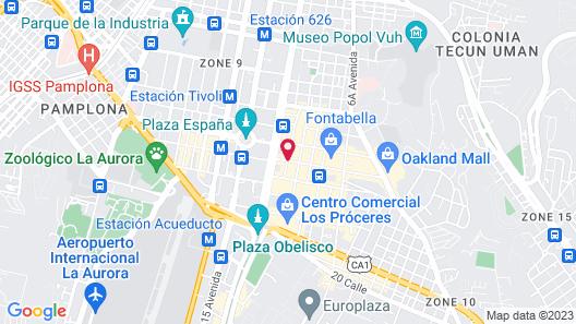 Holiday Inn Guatemala City Map
