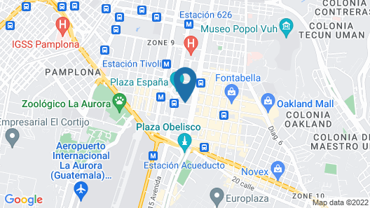 Hilton Garden Inn Guatemala City Map