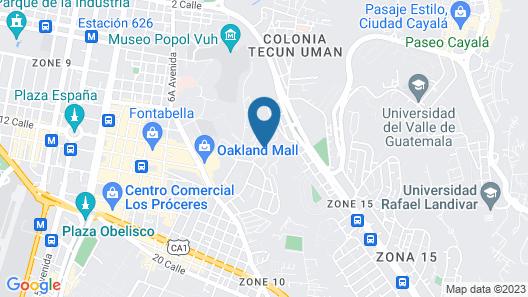 Eco Suites Uxlabil Guatemala City Map