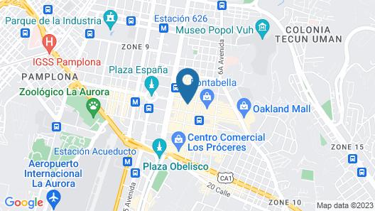 Hyatt Centric Guatemala City Map