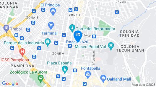 Hotel Guatemala Inn Map