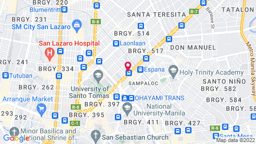 Cosmo Hotel Espana Near UST Map