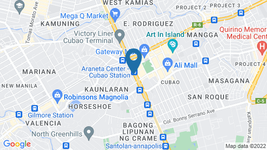 Vista Hotel Cubao Map