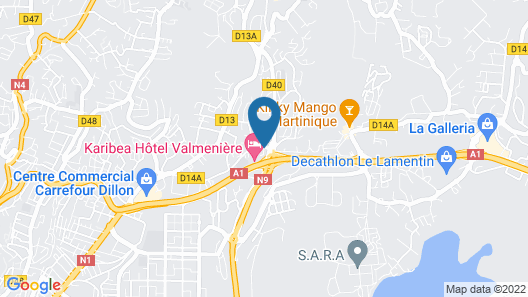 Karibea La Valmeniere Hotel Map