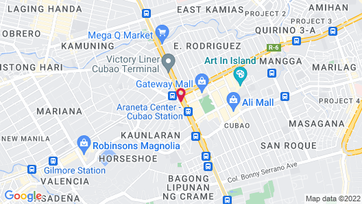 Red Hotel Cubao, Quezon City Map