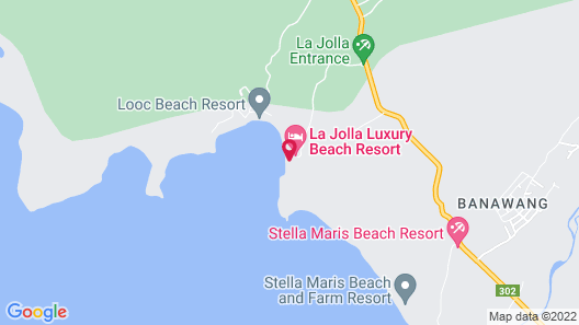 La Jolla Luxury Beach Resort Map