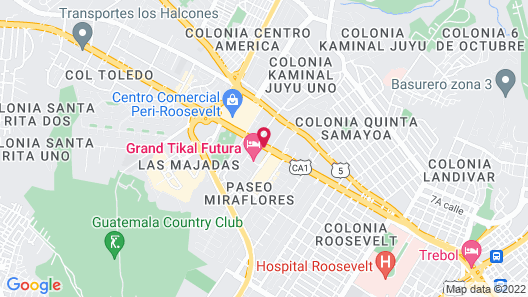 Grand Tikal Futura Hotel Map