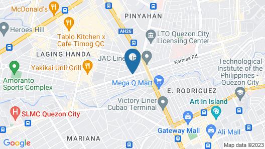 Cosmo Hotel - Kamuning Map