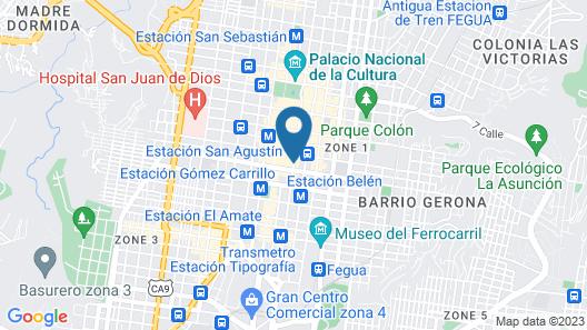 Hotel Maya Excelsior Map