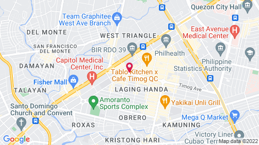 Sequoia Hotel Quezon City Map