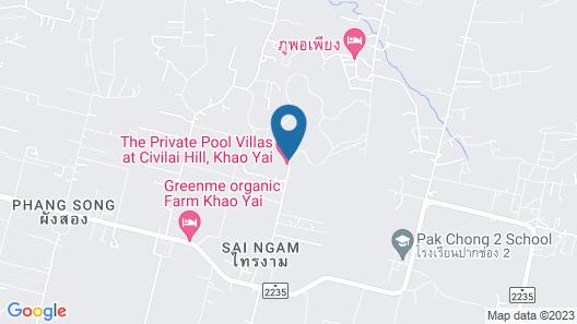 The Private Pool Villas at Civilai Hill Khao Yai Map