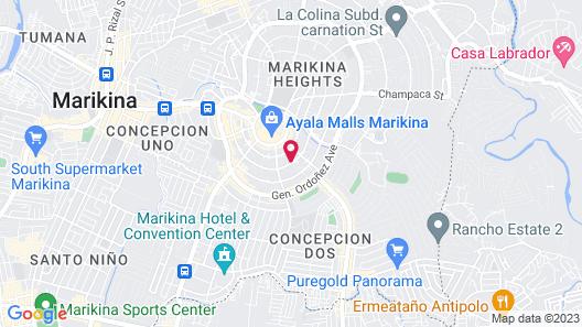 DDD Habitat Marikina Hotel Map