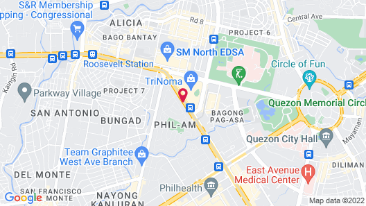 Hotel Sogo Edsa Trinoma Map