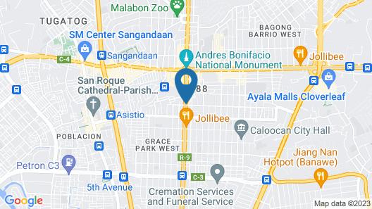 Hotel 99 Monumento Map