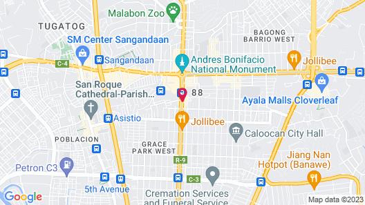 Hotel Sogo LRT Monumento Station Map
