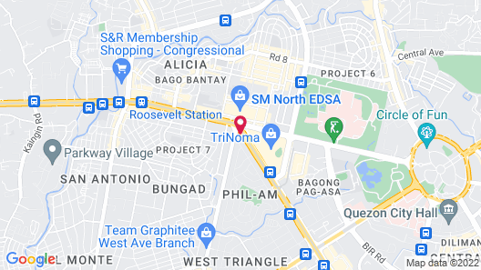 Hotel DreamWorld North EDSA Map