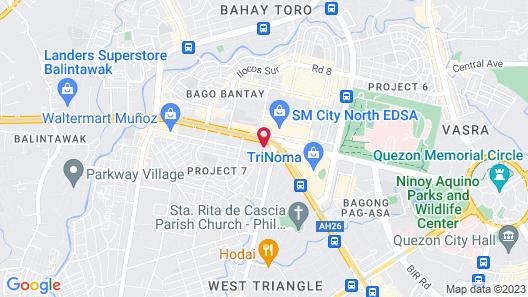 Eurotel North Edsa Map