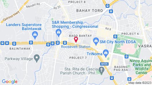 Harts Hotel Quezon City Map