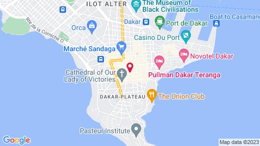 Hôtel Fleur de Lys Plateau Map