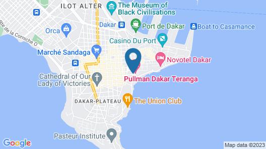 Pullman Dakar Teranga Map