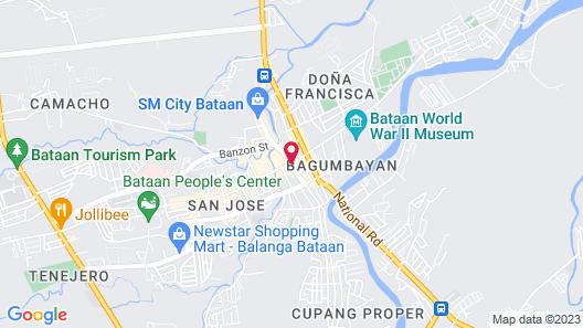The Plaza Hotel Balanga City Map