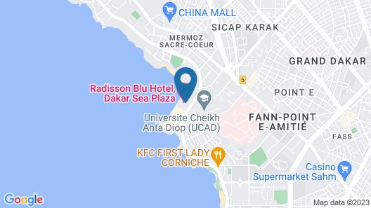 Radisson Blu Hotel, Dakar Sea Plaza Map