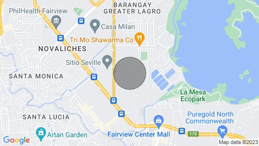 Filinvest2 Batasan Hills, has Views of Marikina Hills, Map