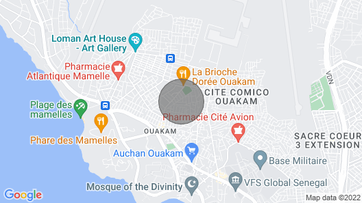 Studio Labelle Ouakam Mamelles Map