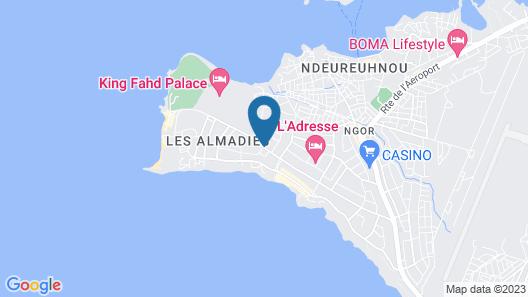 Yaas Hotel Dakar Almadies Map