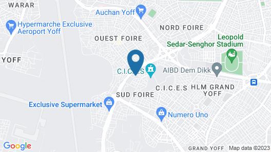 International Hotel Dakar Map