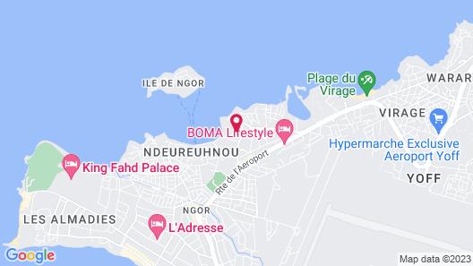 Hotel Ngor Diarama Map
