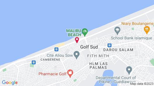 Résidence Mbissine Diouf Map
