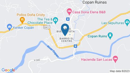 Hotel Cuna Maya Map