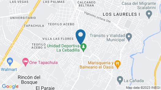 Holiday Inn Express Tapachula, Chis Map
