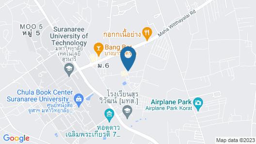 OYO 1129 Leelavadee Resort Korat Map