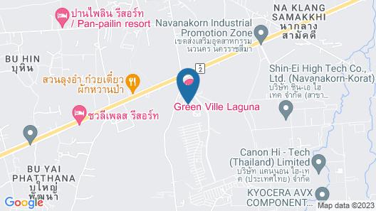 Green Ville Laguna Hotel Map