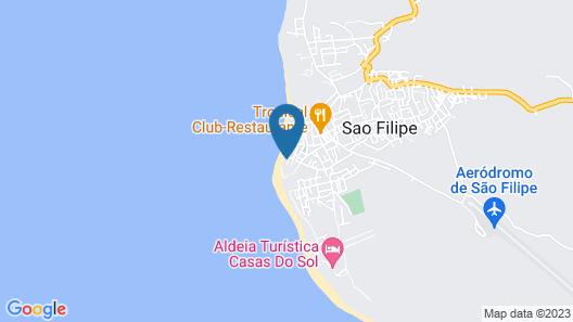 Som do Mar - Studio Above the Atlantic Ocean Map