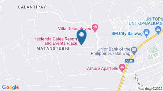 Hacienda Galea Resort and Events Place Map