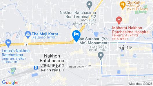 Fortune Hotel Korat Map