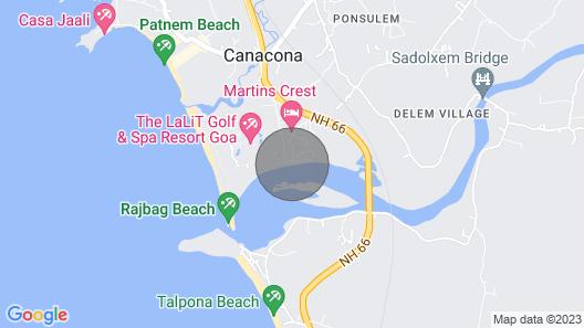 Riverview Villa : Boutique Villa by the River, Close to the Beach & Golf Course Map