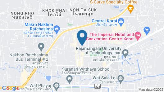 V-one Hotel Korat Map