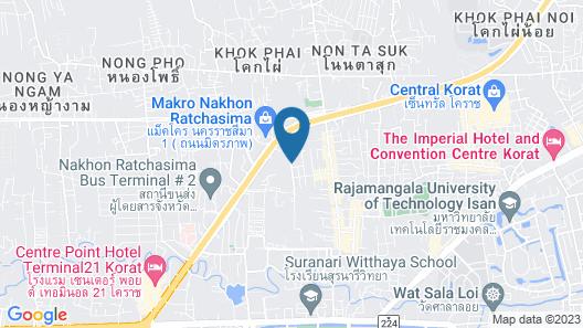 The Rich Hotel Korat Map