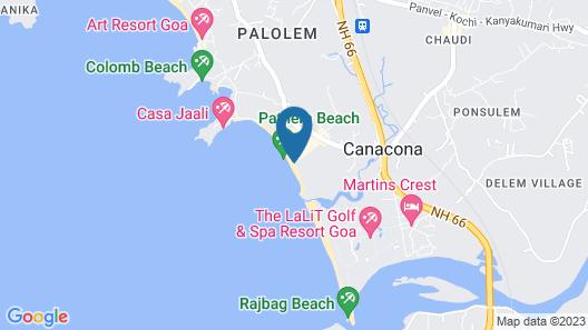 Sea Front Patnem Beach Huts Map