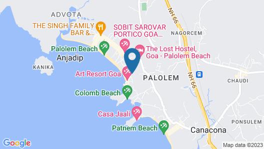 Sea Shades Palolem Resort Map