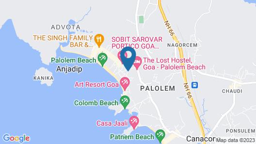 Palolem Inn Map