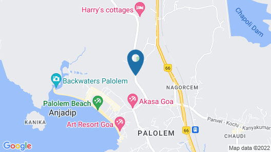 Palolem Green Inn Map
