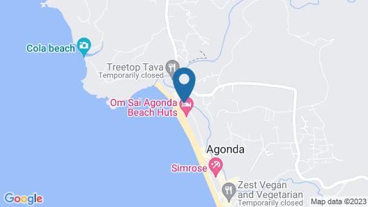 Goa Cottages Agonda Map