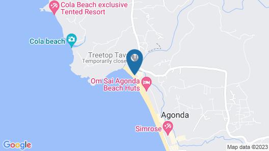 Hotel Resort DucknChill-Agonda Map